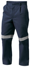 K53020 King Gee Reflective Drill Pant - Navy with 3M Ref Tape