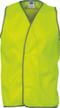 3801 Daytime HiVis Safety Vests - Available in Hi Vis Yellow; Hi Vis Orange