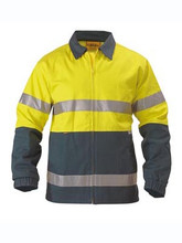 Bisley BK6710T 3M Taped Hi Vis 100% Pre-shrunk Cotton Drill Jacket