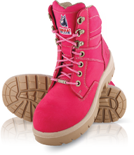 522760 Steel Blue Southern Cross Ladies Steel Cap Boot - Pink