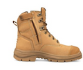"""150mm (6"""") Zip Sided Lace Up Boot, Water Resistant Nubuck Leather, Fully Lined, Lace Locking Device"""