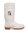 White with tan sole, steel toe
