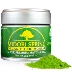 Midori Spring Organic Ceremonial Grade Matcha - GOLD Class - Green Tea Powder From Japan 30g