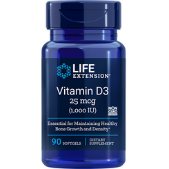 Vitamin D3, 1,000 IU, 90 softgels
