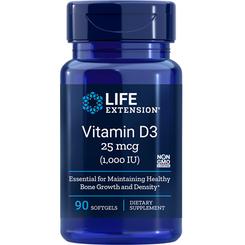 Vitamin D3, 1,000 IU, 90 softgels
