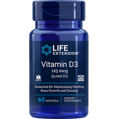 Vitamin D3, 5,000 IU, 60 softgels