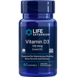 Vitamin D3, 7,000 IU, 60 softgels
