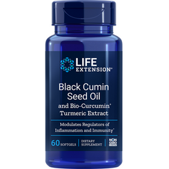 Black Cumin Seed Oil and Bio-Curcumin® Turmeric Extract, 60 softgels