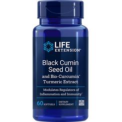 Black Cumin Seed Oil and Bio-Curcumin® Turmeric Extract, 60 softgels