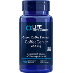 CoffeeGenic® Green Coffee Extract, 400 mg, 90 vegetarian capsules