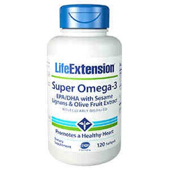 Super Omega-3 EPA/DHA with Sesame Lignans & Olive Fruit Extract, 120 softgels