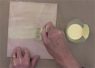Apply a coat of woodworker's glue to the veneer and to the substrate