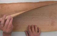 Wood Veneers As Sliced From The Log