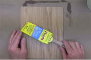 When finishing wood veneers, use a high quality brush