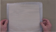 Use waxed paper to prevent glue from getting on the veneer