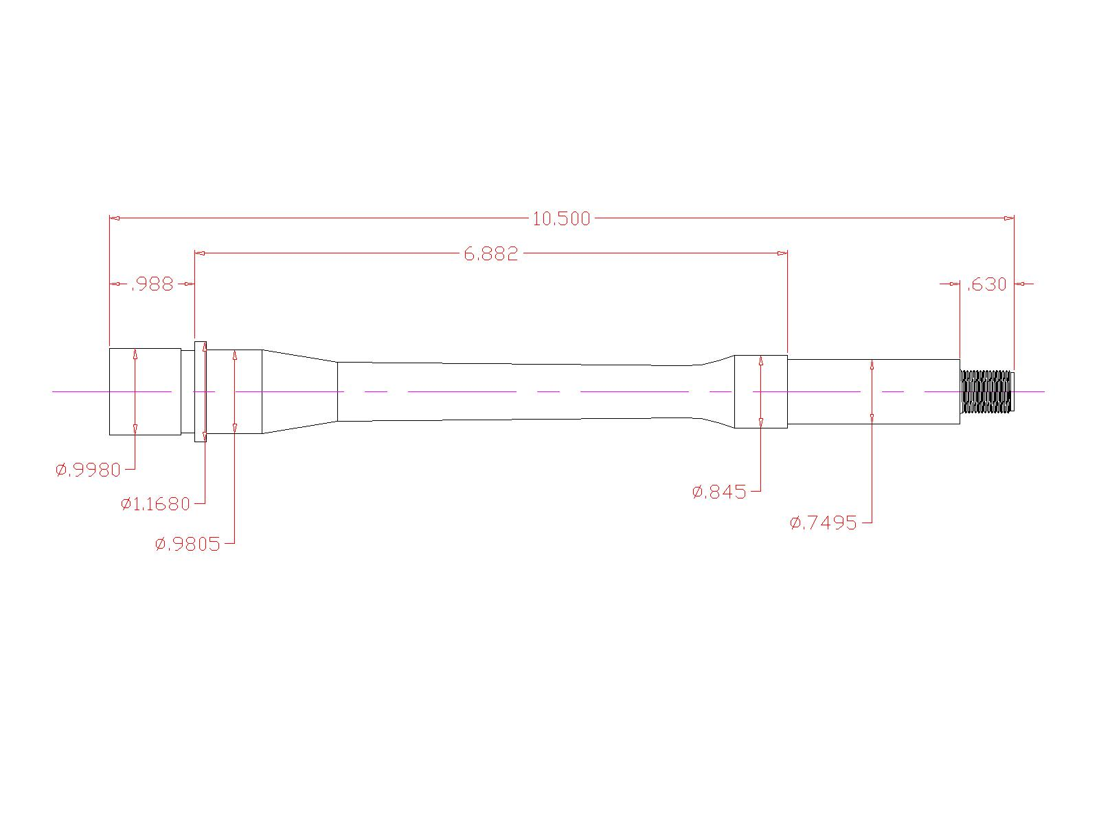Gm M4 9 105 9mm Ar15 Barrel Green Mountain Rifle Co Schematic Black Nitride Coated Inside And Out For Enhanced Wear Resistance Extended Performance With A Full Auto Chamber Has Been Button Rifled