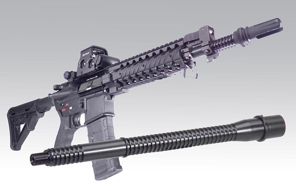 GM-M11S 11 5 inch Finned Barrel in 5 56mm with ext
