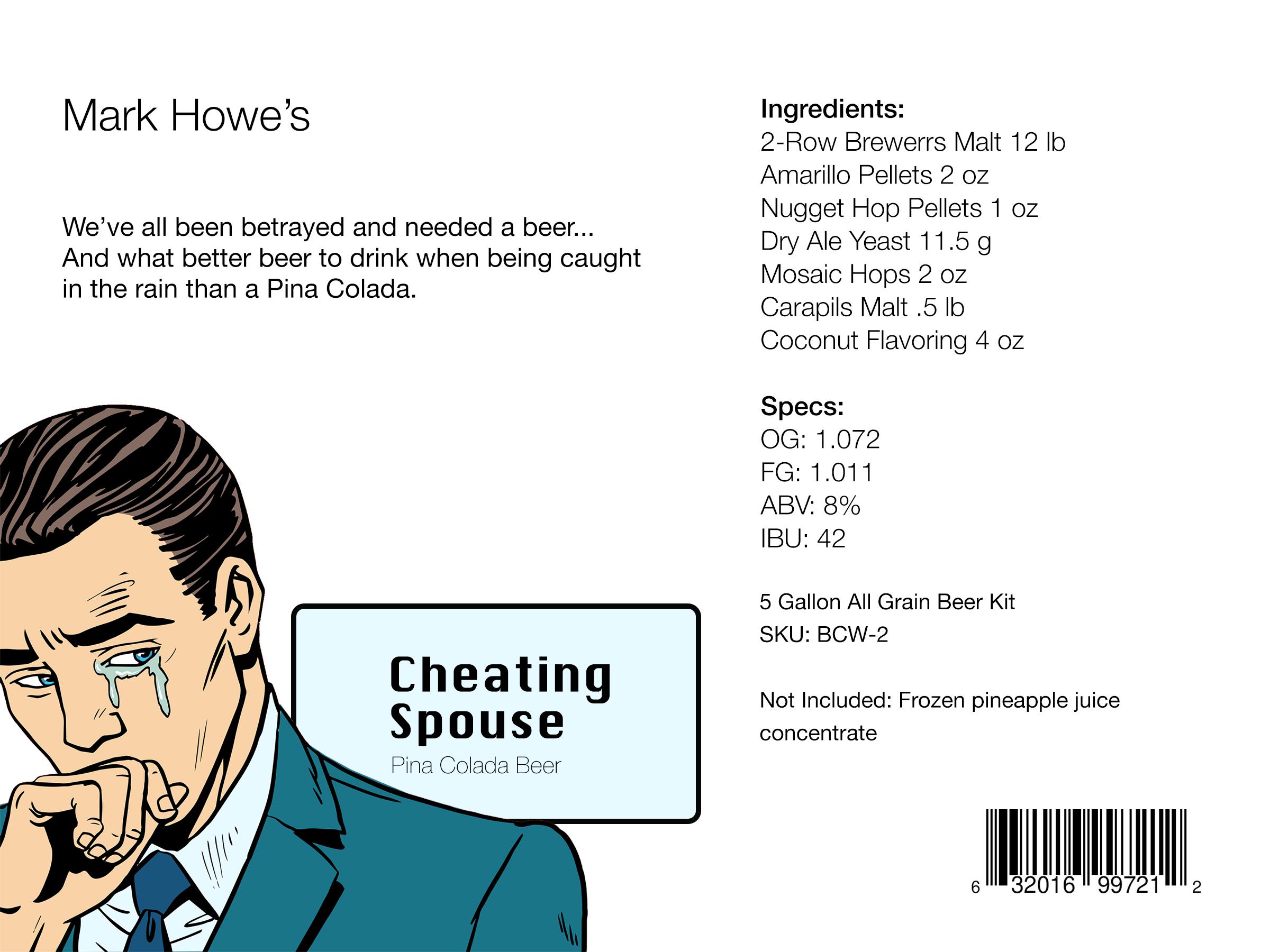 Cheating Spouse Beer Kit Winner
