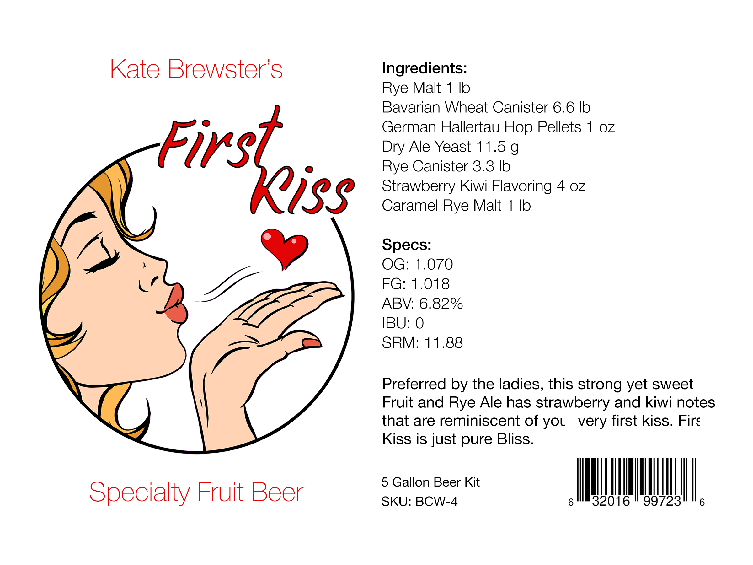 First Kiss Beer Kit Winner