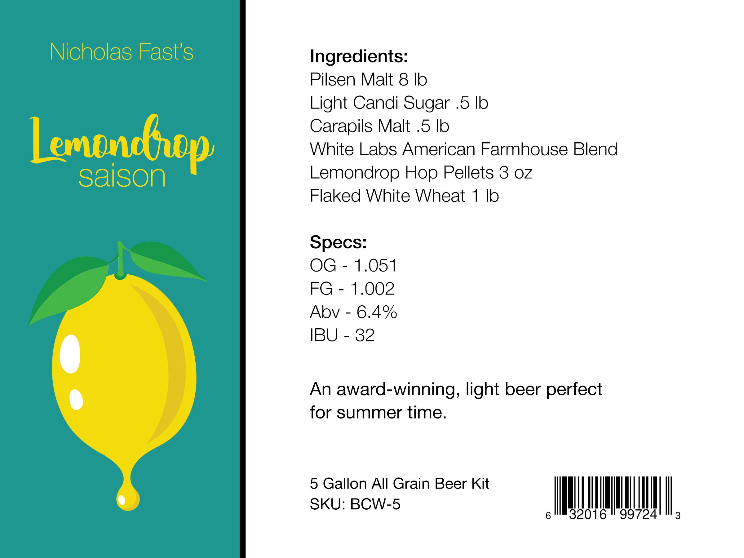 Lemon Drop Saison