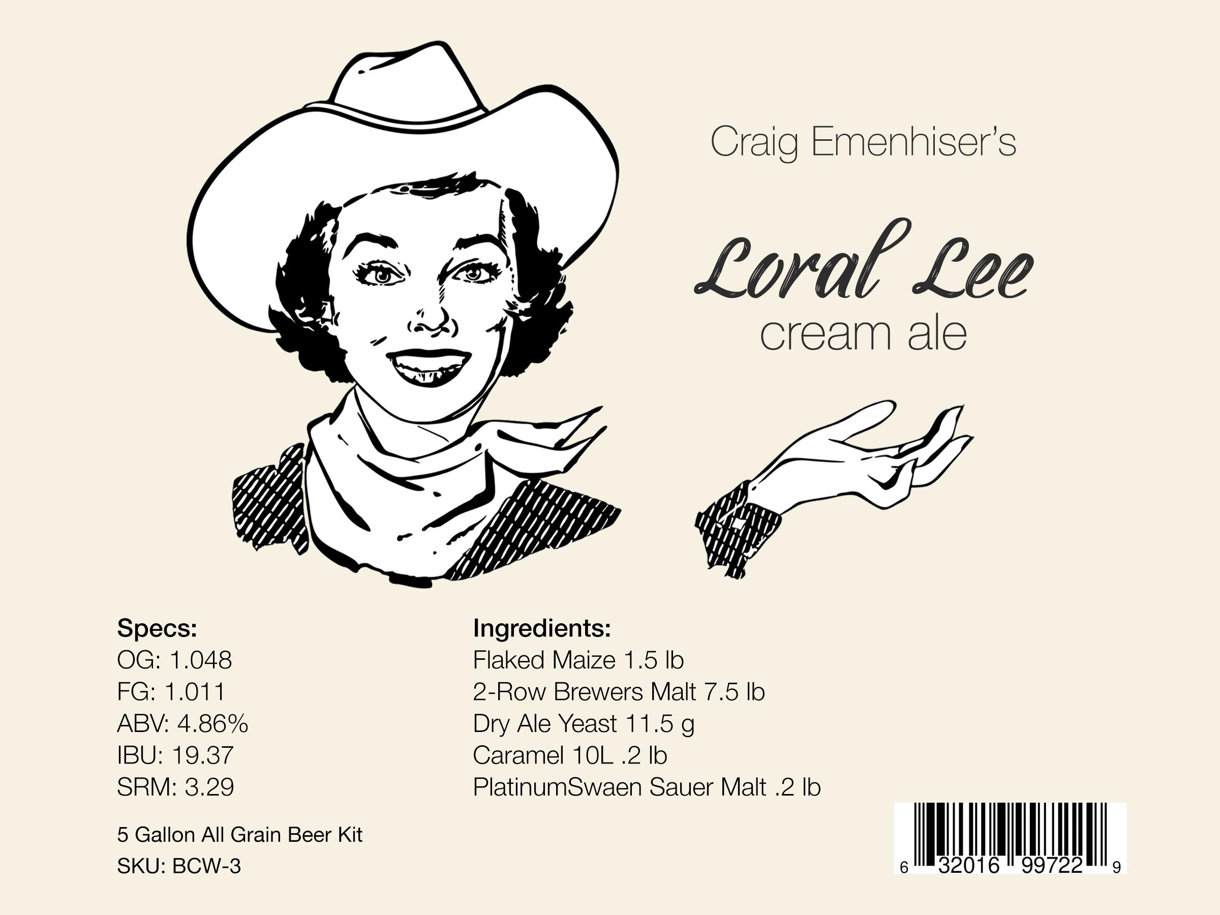 Loral Lee Beer Kit Winner