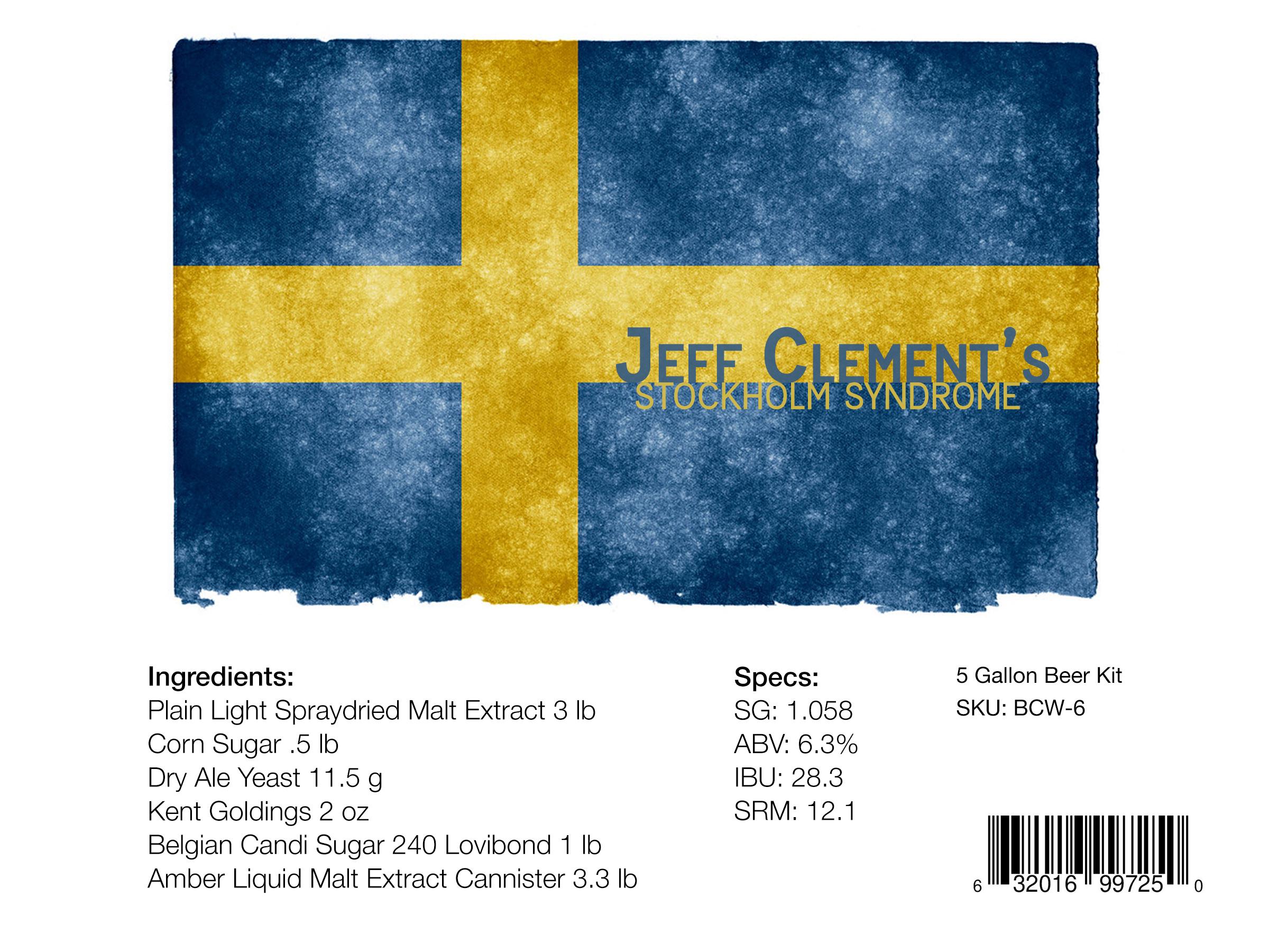 Stockholm Syndrome Beer Kit winner