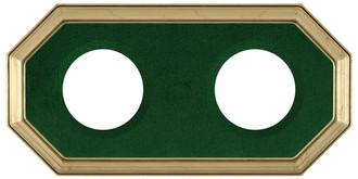 352 Double Collector Plate Frame Gold Leaf  - Green Velvet