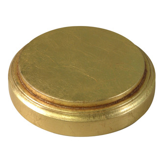 Glass Dome and Base - #905 - Gold Leaf Base