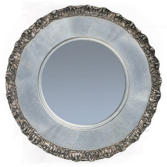 Model #6 – Silver Leaf Circle Framed Mirror