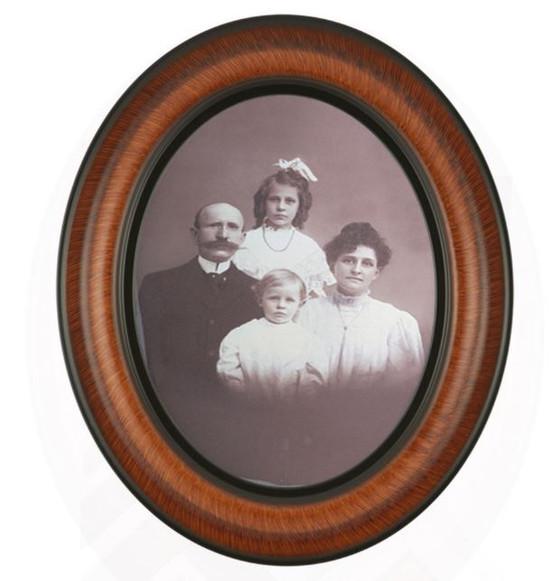 Small Vintage Frame & Convex Glass Display