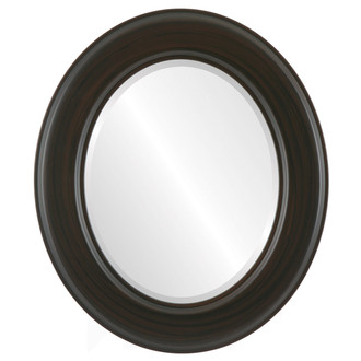 Model #6A - #796 Oval Framed Mirror in Black Walnut