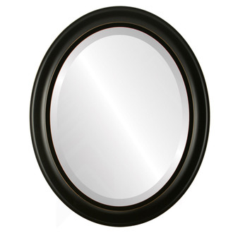 Model #6B Oval Framed Mirror in Rubbed Black