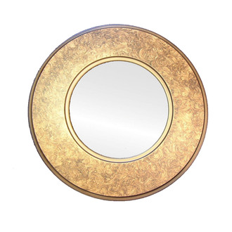 Swirl Finish on Gold Round Picture Frame
