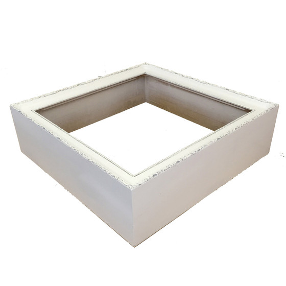 Rectangle Shadow Box in Linen White