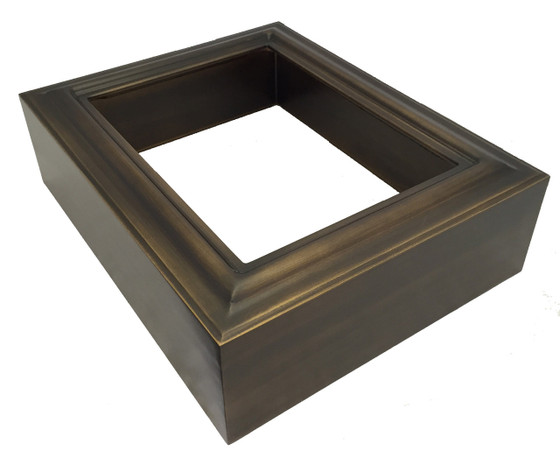 Rectangle Shadowbox in Rubbed Bronze