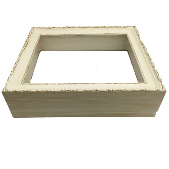 #401 Custom Rectangle Shadowbox in Antique White