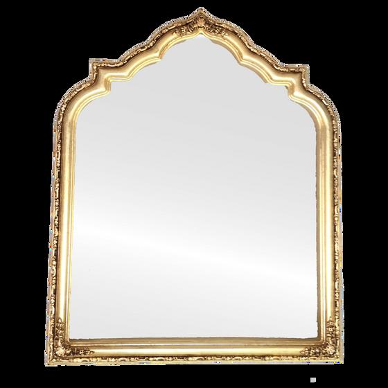 Framed Mirror in Gold Leaf