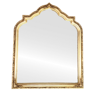 Framed Mirror in Gold Leaf