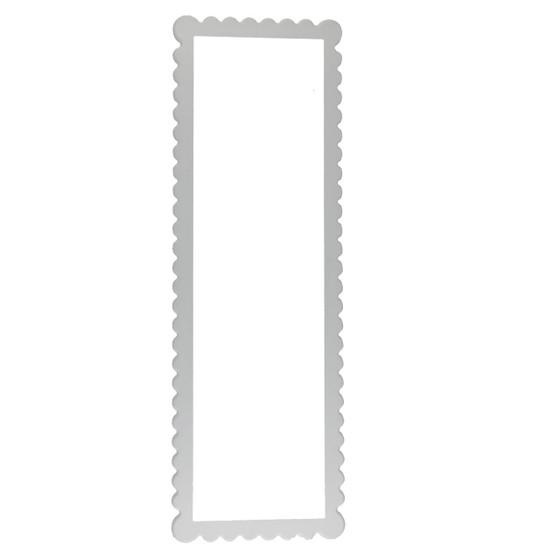 Linen White Framed Mirror