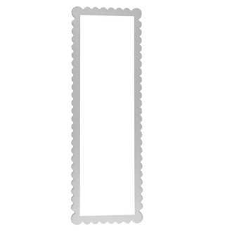Linen White Framed Mirror