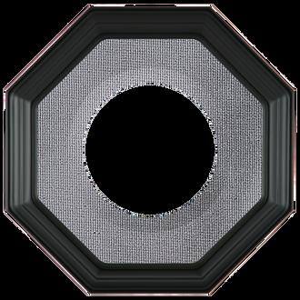Collector Plate Frame #351 - Matte Black (Grey Velvet)