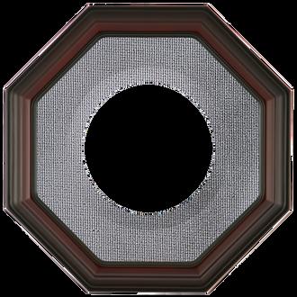 Collector Plate Frame #351 - Rosewood (Grey Velvet)