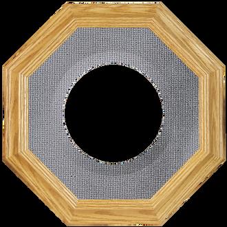 Collector Plate Frame #351 - Honey Oak (Grey Velvet)