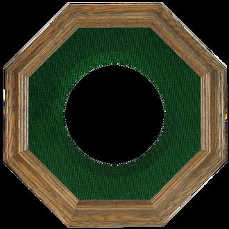 Collector Plate Frame #351 - Toasted Oak (Green Velvet)