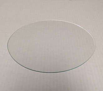 Oval glass anti-reflective flat