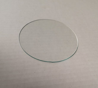 Round glass anti-reflective flat