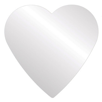 Heart Mirror-Flat Non Beveled