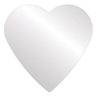Heart Mirror-Flat Non Beveled
