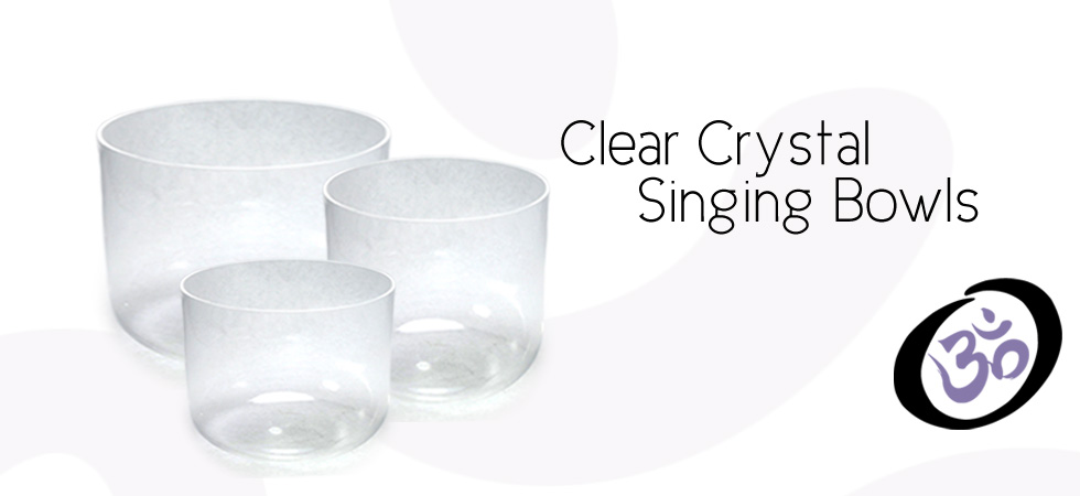 Clear Crystal Singing Bowls