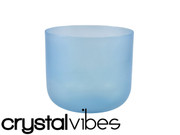 "9"" Translucent Aquamarine Fusion Crystal Singing Bowl"